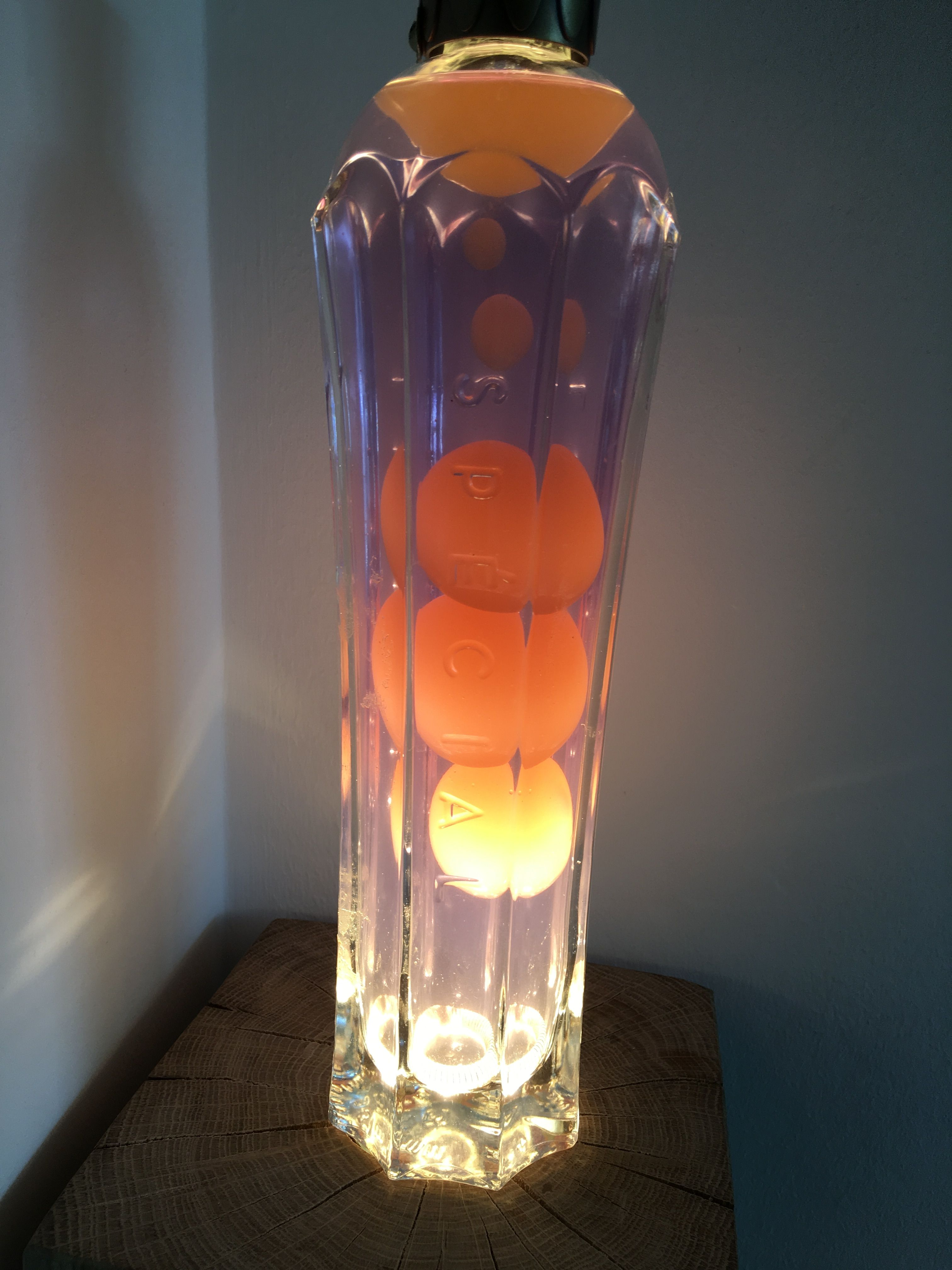 Made This Lava Lamp From A Bottle Of St Germain Elderflower Liquor