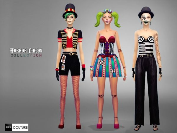 MissFortune's Horror Circus Collection | Sims 4 Female