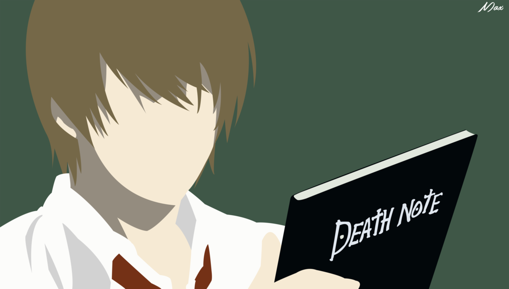 Light from Death Note Minimalistic Wall by Max028 on DeviantArt
