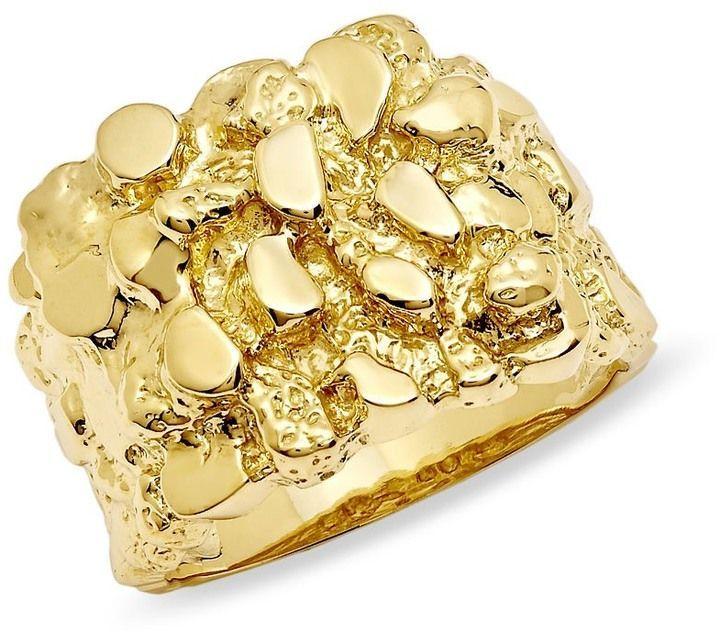 Men S 10k Gold Nugget Ring Anillos Para Hombres Anillos De Oro Anillos