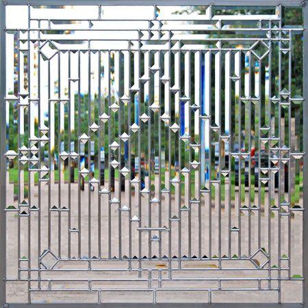 ZOOM to custom leaded glass all beveled window