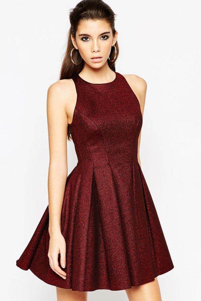 Petite robe rouge bordeaux
