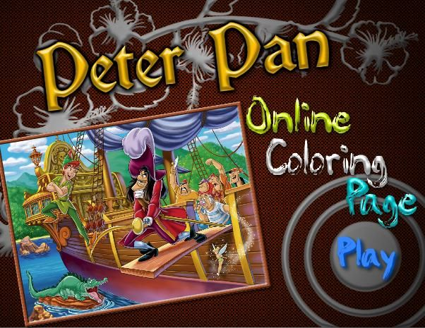 The famous cartoon character Peter Pan. The most beautiful coloring ...