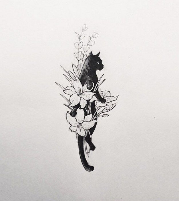 Design ideas for tattoos for black cats 18