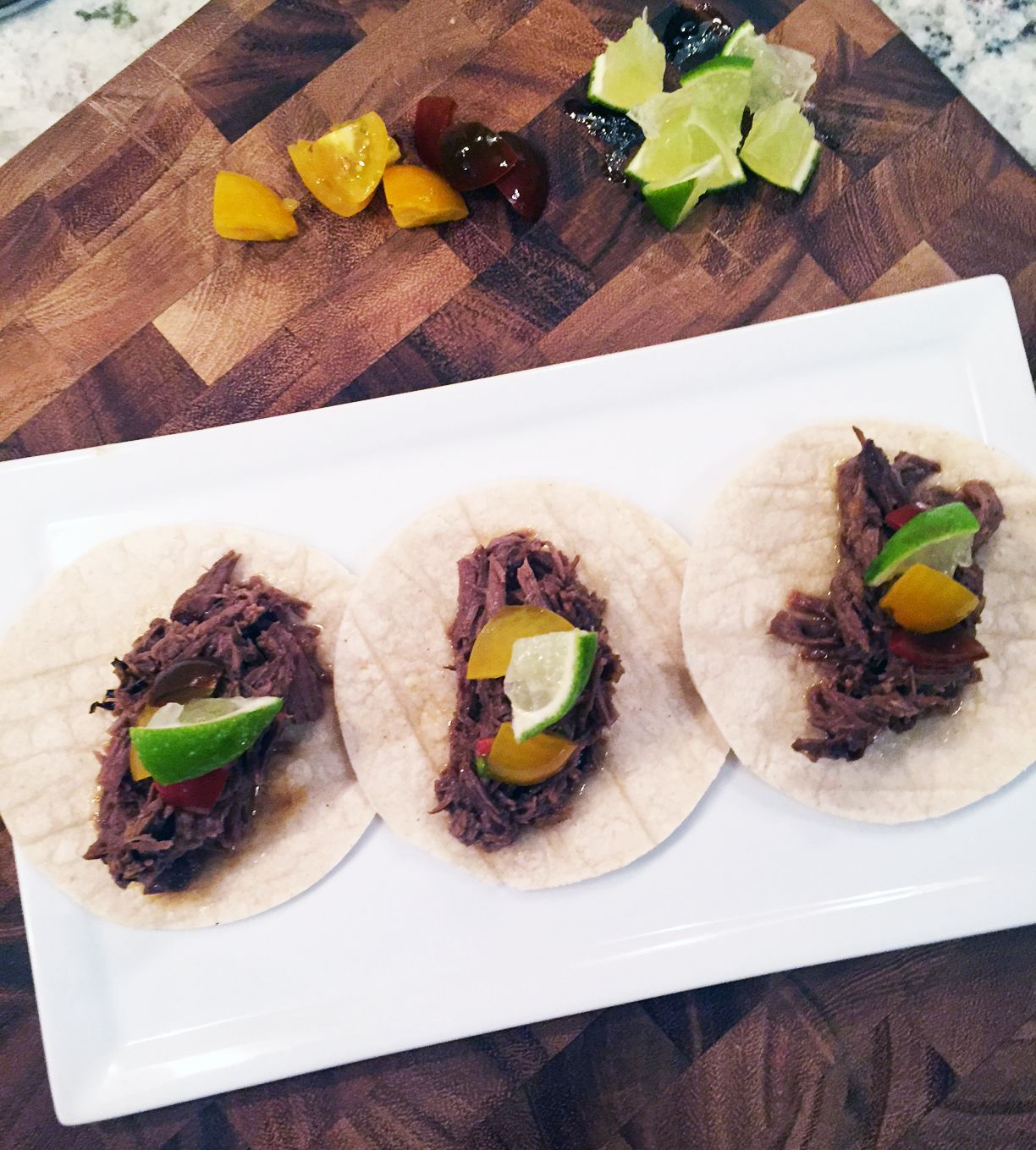 Addictingly delicious slow cooked barbacoa beef tacos