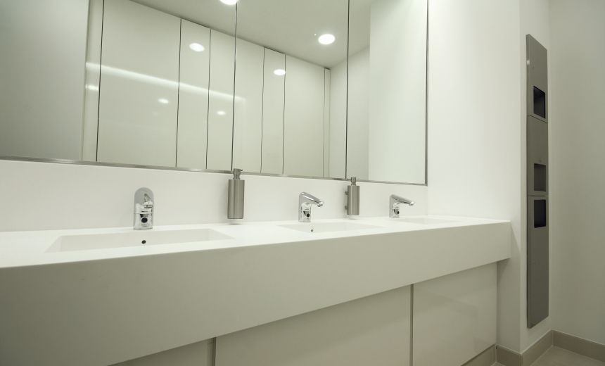 Office Bathroom Design With Well Commercial Bathroom Ideas