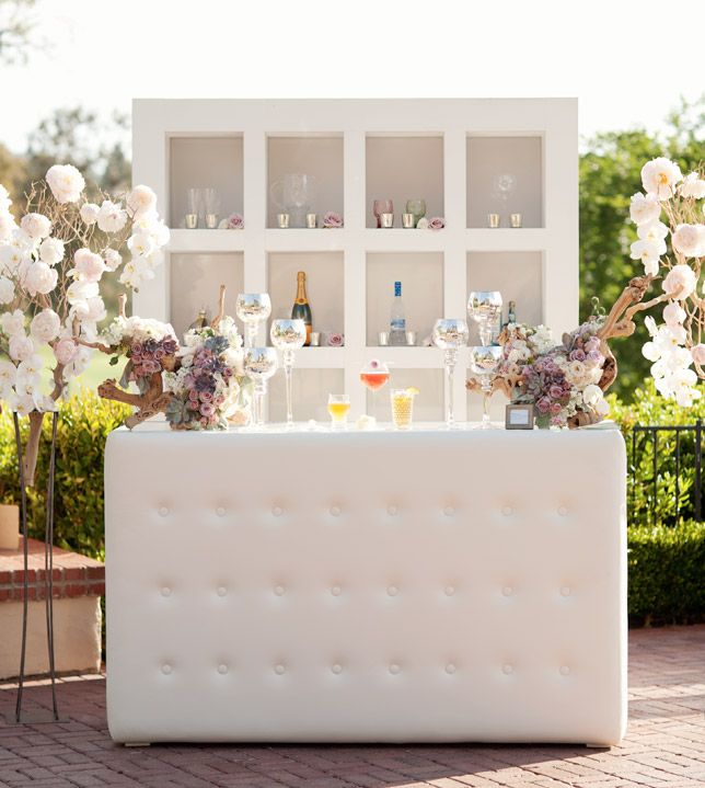 Outdoor Wedding Bar Ideas: Tabletops: Effervescent Elixir Bar