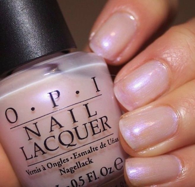 New Opi Altar Ego Light Pink Iridescent Pearl French