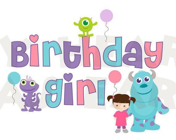 Printable Diy Birthday Girl Baby Monsters Inc By Myhearthasears