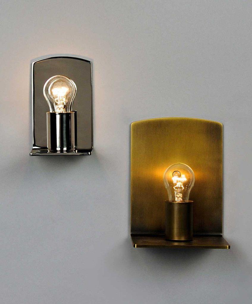 Hallway lighting modern  NK L Sconce  Lighting  Pinterest  Wall sconces Polished brass