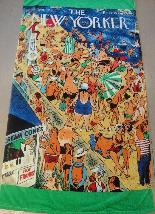 new yorker magazine beach towels The New Yorker Coney