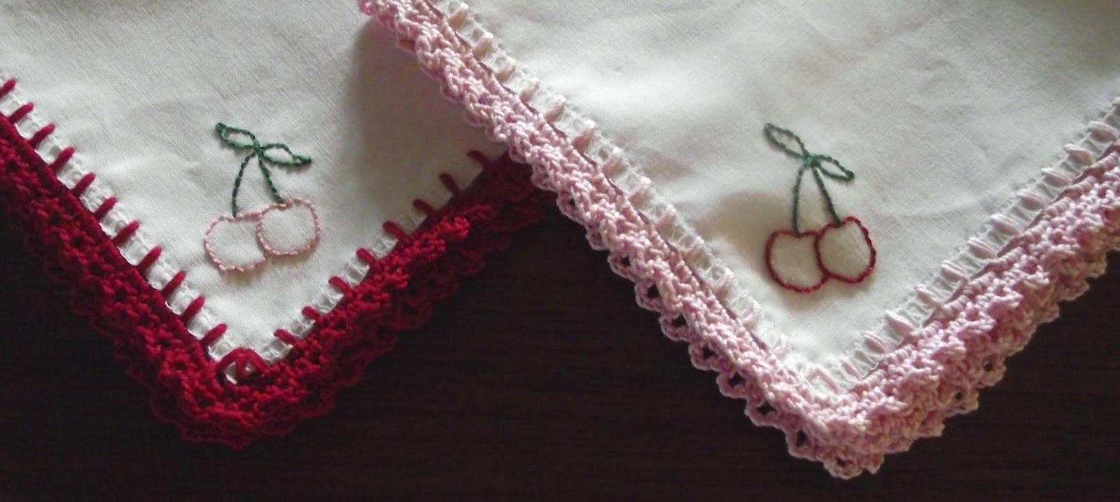 Sara Vs Sarah Fancy Crochet Edged Hankie A Tutorial Crochet