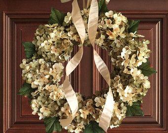 Beautiful Wreaths | Blended Hydrangea Wreath | Summer Wreaths | Front Door  Wreaths | Fall Wreath | Outdoor Wreaths | Summer Wreath