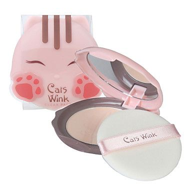 """This is such a cute package for what appears to be """"compact"""" makeup for teens.  This product is made in Korea by [TONYMOLY] Cats Wink Clear Pact 11g #2 Clear Beige – USD $ 6.99"""