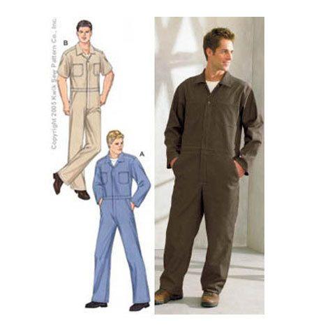 Sewing Pattern - Mens Pattern, Coveralls Pattern, Kwik Sew #K3389 ...