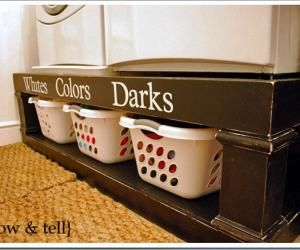 A washer/dryer pedestal.  Great idea!  So much better than the standard ones