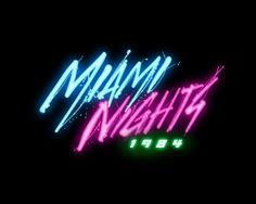 Pin by Picasso M on Miami Beach | Neon logo, 80s logo, Typography fonts