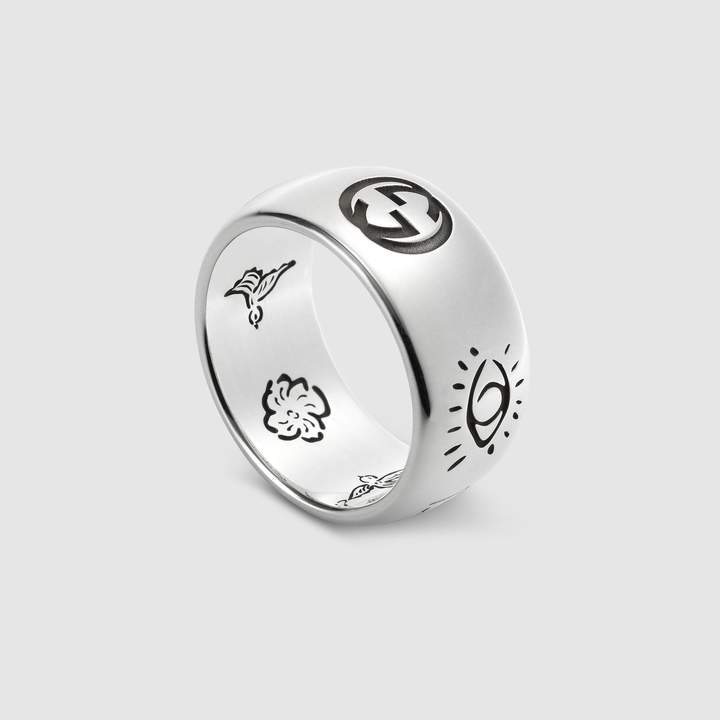 fb25cc4fb Gucci Blind For Love ring in silver in 2019   accessories   Love ...