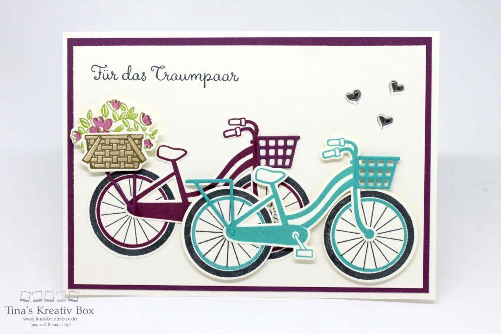 Blog Hop Inspireink Hochzeitskarte Bike Ride Mit Produkten Von