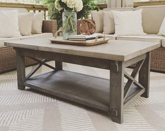 rustic coffee table etsy living