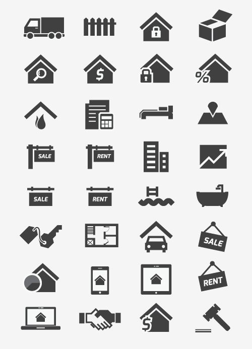 95cfd2f9e Free Real Estate Icons (34 Icons) #freepsdicons #vectoricons #flaticons  #outlineicons #uiicons