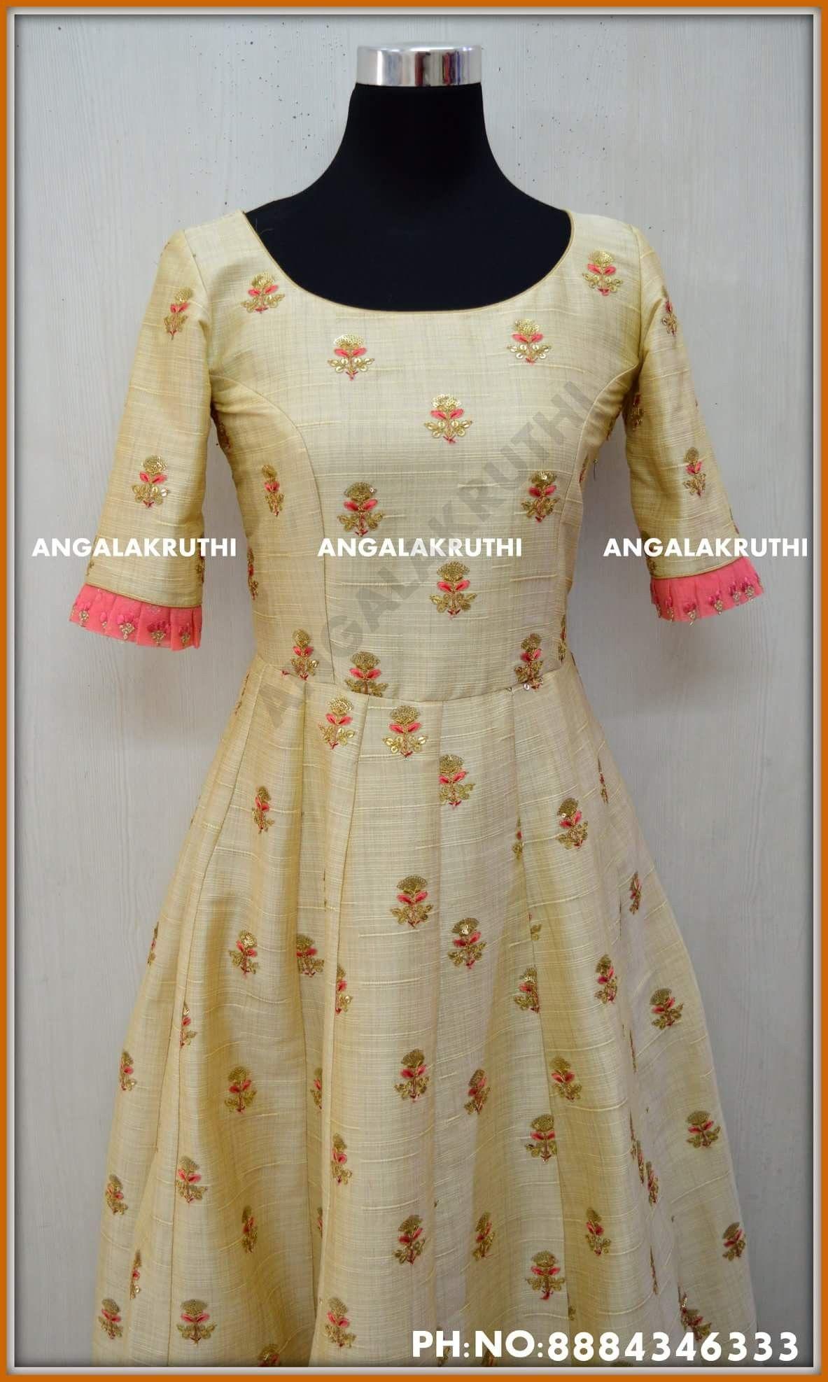 Custom Designs By Angalakruthi Boutique Bangalore Long Gown Designs Anarkali Custom Designs In Indian Gowns Dresses Dress Neck Designs Indian Outfits Lehenga