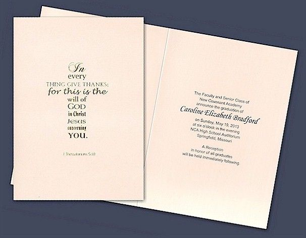 10 images about Christian Wedding Invitations – Religious Graduation Invitations