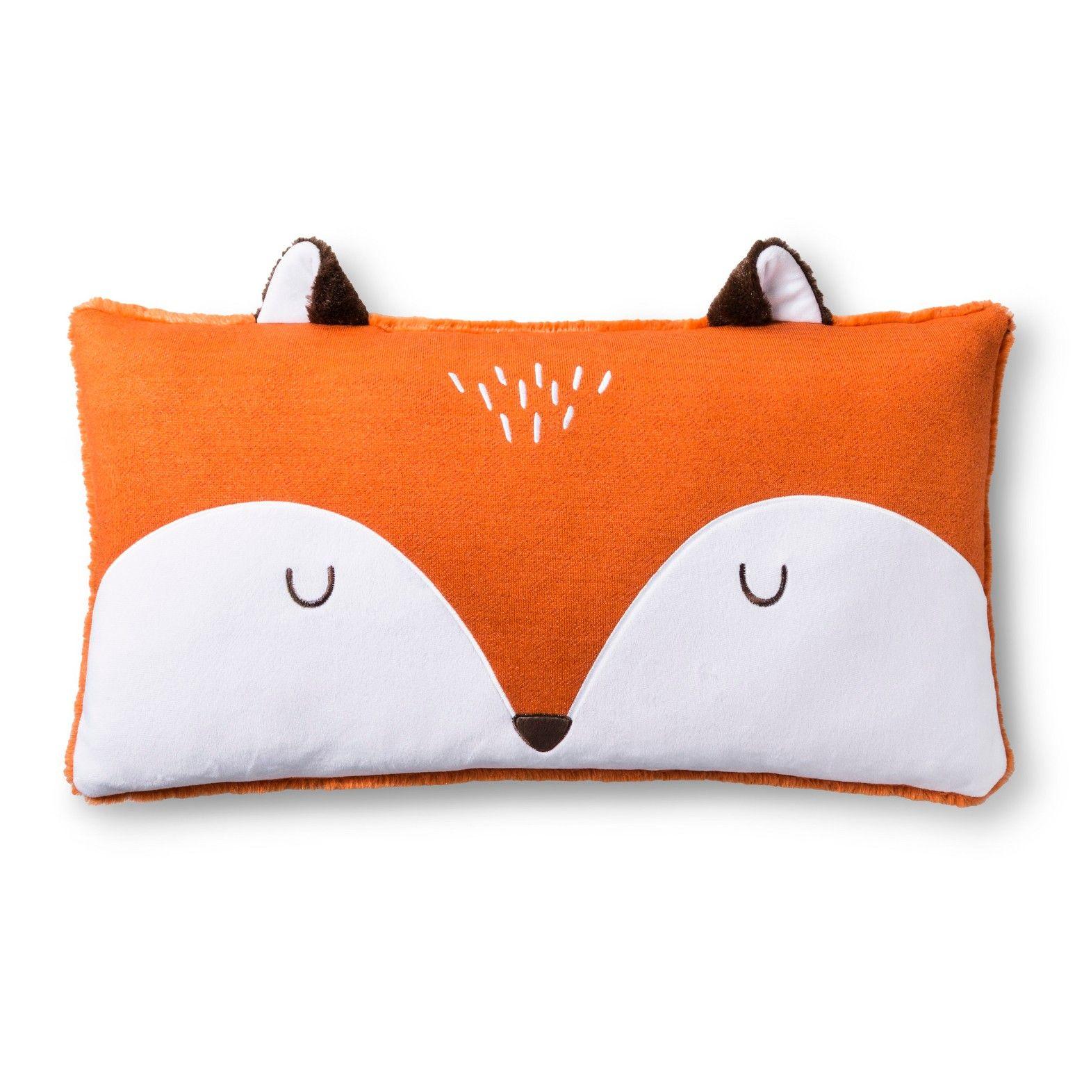 fox pillow fox throw pillows