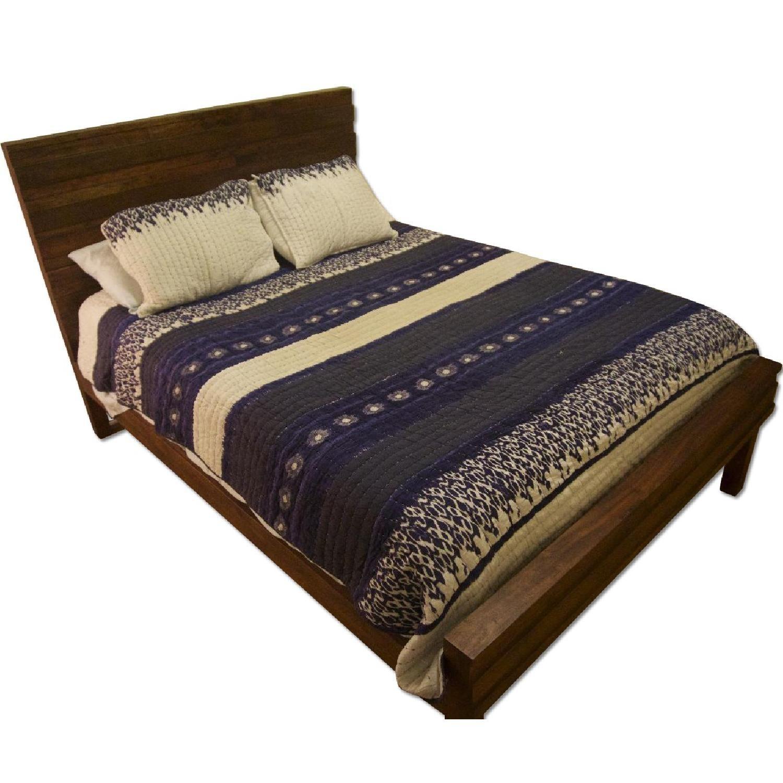 West Elm Stria Queen Size Bed Frame in Honey Queen size