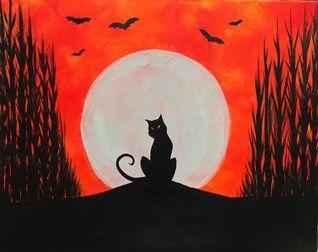 Halloween Painting Art Soft Pastel Canvas Paintings Tutorials Mini Pinot Noir Kid