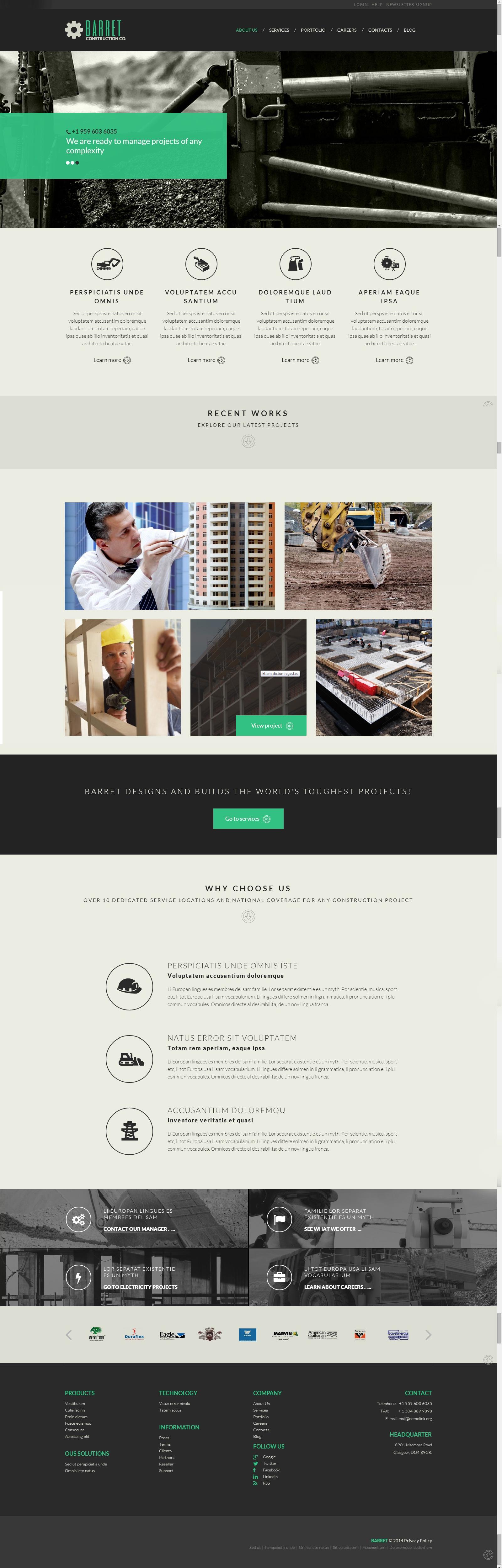 http://www.templatemonster.com/demo/52088.html | DESIGN | Pinterest