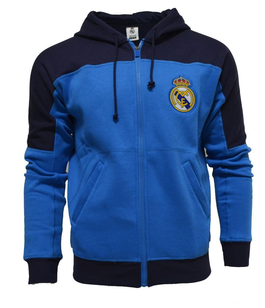 Hoodie Real Madrid Adults Zip Front Fleece Sweatshirt Jacket Navy Ronaldo 7   RHINOX  RealMadrid da83c8484bbc6