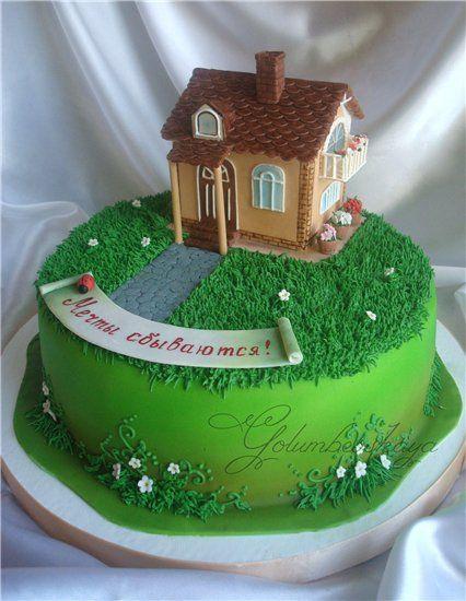 Картинки по запросу мк крыши на торт | Торт, Марципан и ...