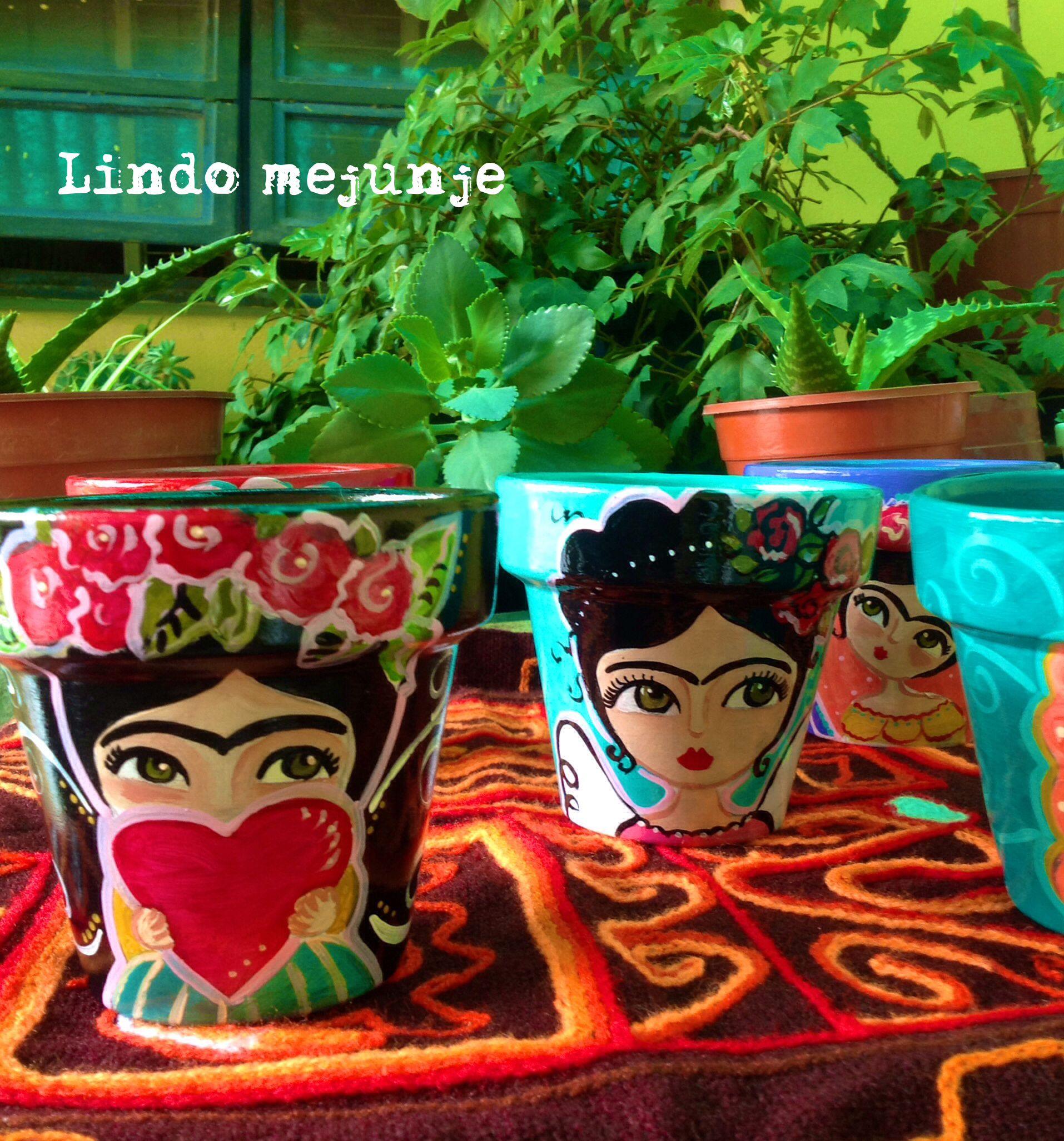 Macetas pintadas a mano frida macetas pintadas a mano - Macetas de terracota ...