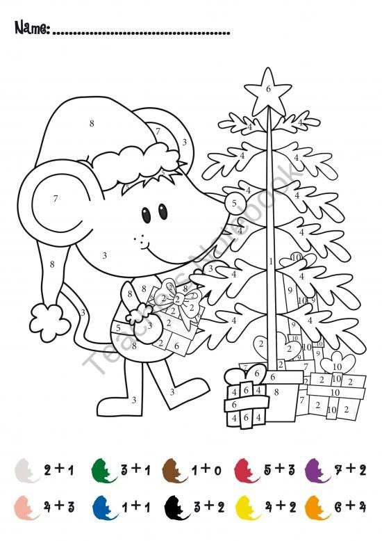 Christmas Math Activities Xmas Tree Addition Subtraction ...