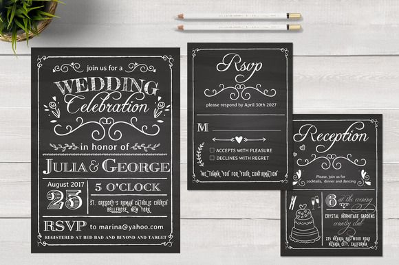 Chalkboard Wedding Invitation Card Wedding Invitation Cards Chalkboard Wedding Invitations Chalkboard Wedding