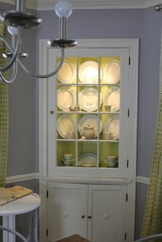 Built In Dining Room Insides Of The Built In Corner China Cabinets In The  Dining Room
