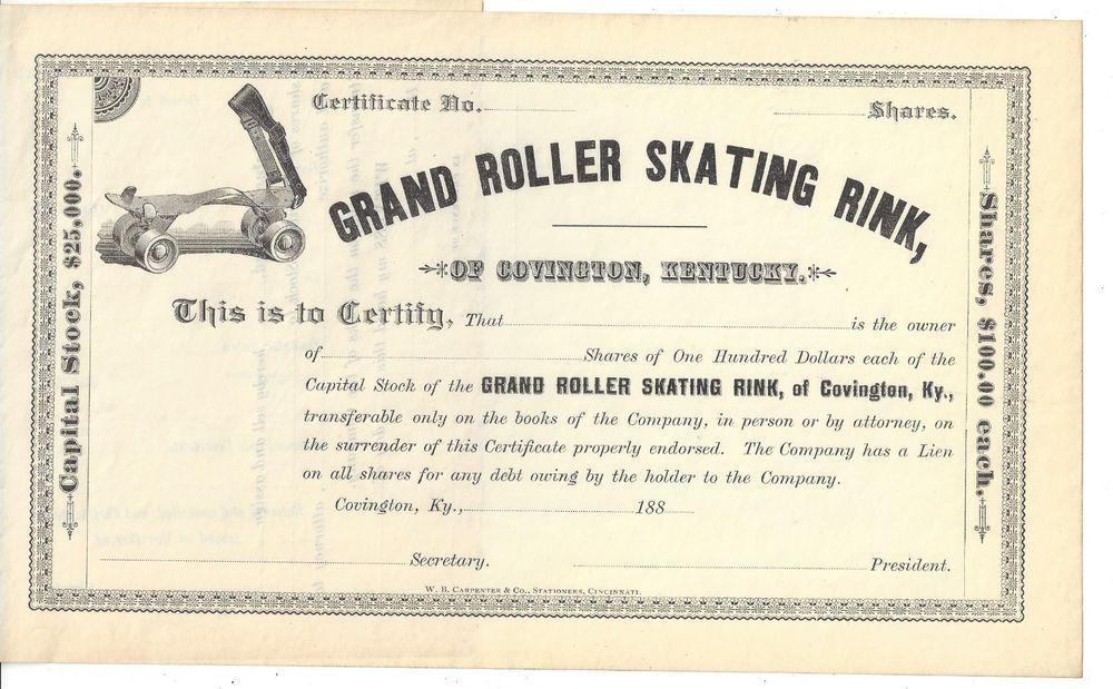 Caterpillar Tractor Co stock certificate, 1929 Original Stock - blank share certificates
