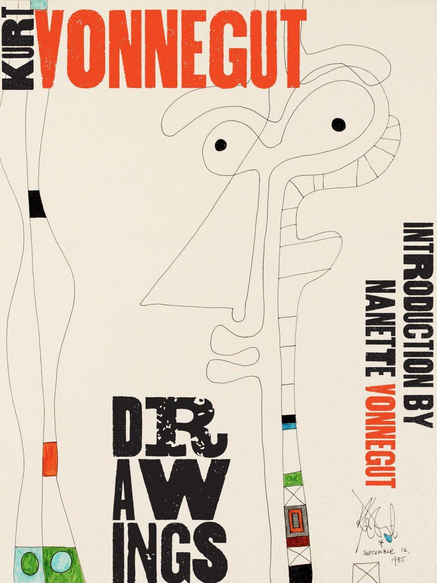 Kurt Vonnegut Drawings, published by @monacellipress , designed by Misha Beletsky