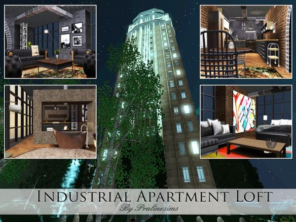 Industrial Apartment Loft by Pralinesims - Sims 3 ...