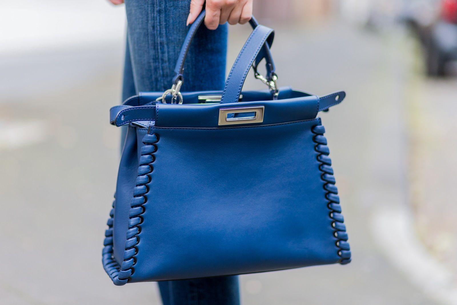 Details lisarvd.com   Lisa Hahnbück wearing a blue Fendi Peekaboo Bag with  Strap in · SacsSacs À Main ... a276d129595