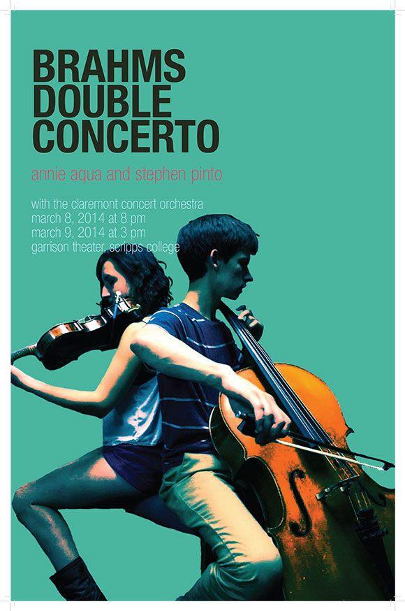 Claremont Concert Orchestra Poster | Annie Aqua Designs