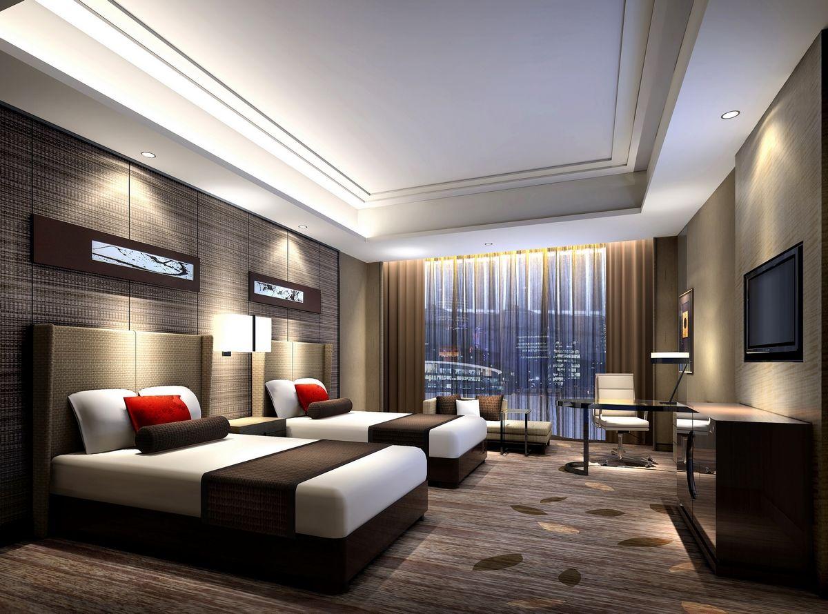 Standard hotel room rendering taller pinterest 3d for Living room suites for sale