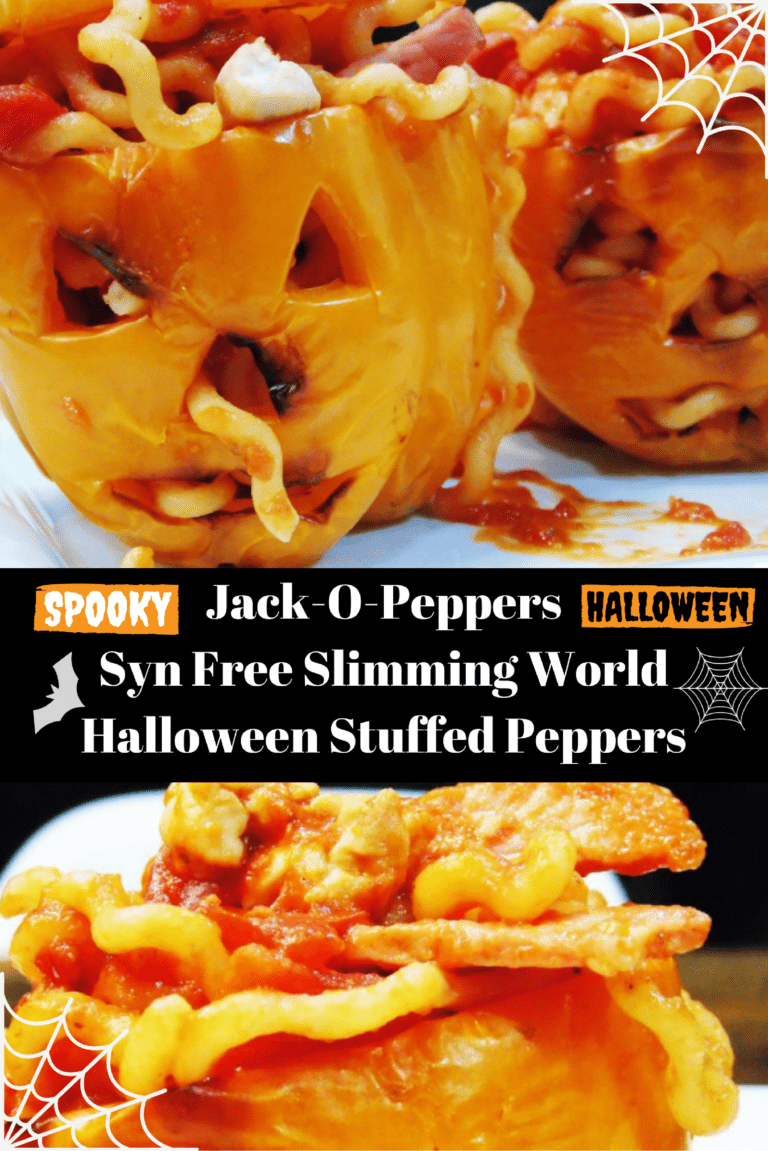 Scary Syn Free Halloween Stuffed Peppers (Jack-O-Peppers)