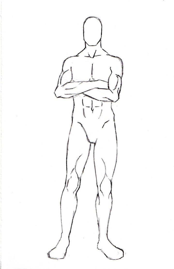 Male Character Pose 7 by One-With-No-Color | Figures: Male ...
