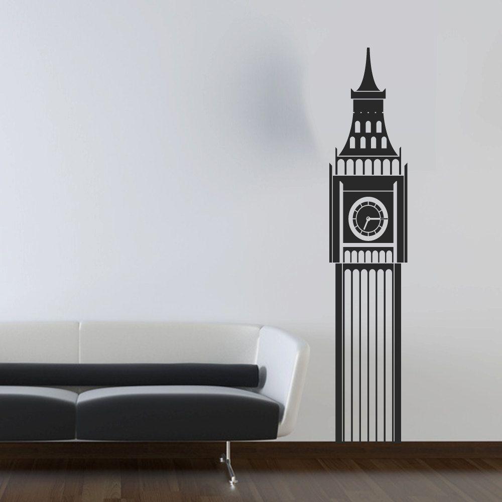 Big Ben Clock Wall Decal Wall Decor Vinyl Wall Art Sticker - Living ...