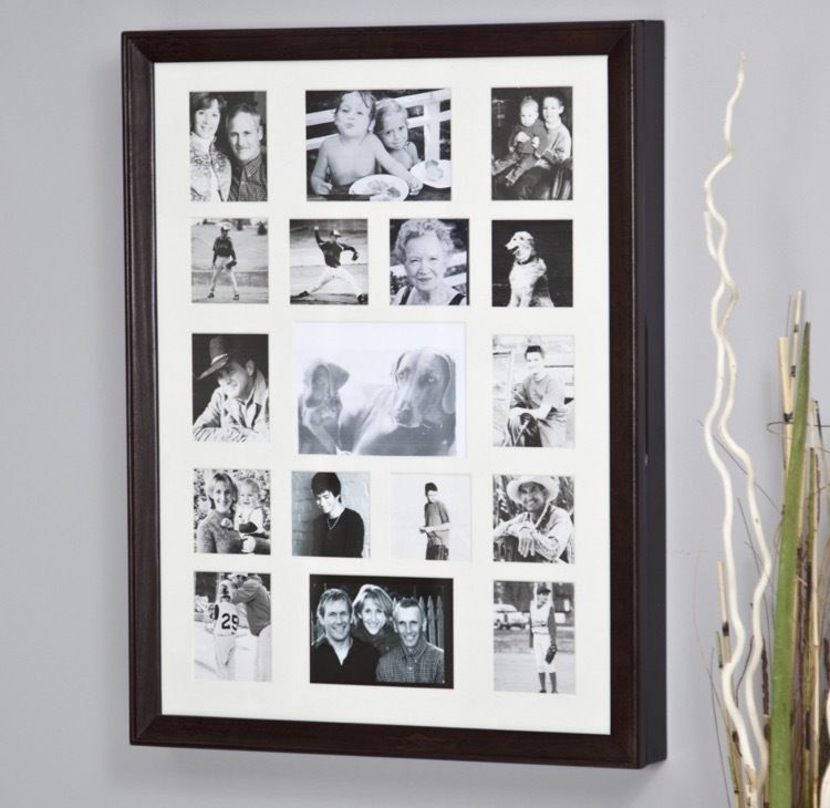 Photo Collage Jewelry Armoire Picture Frame Wall Display Mount