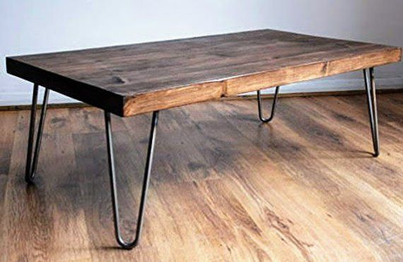 Coffee Table Mid Century Hairpin Legs Large Selection Of Finish