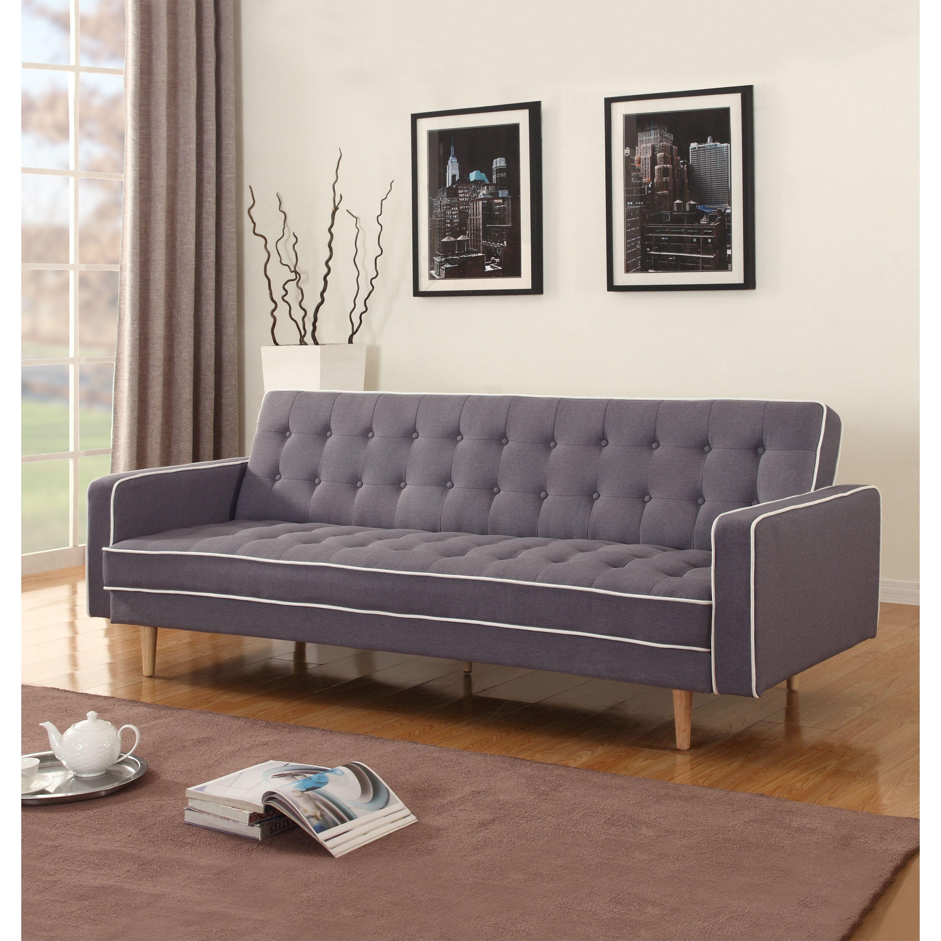 mid century modern 2 tone sleeper futon sofa   overstock   shopping   mid century modern 2 tone sleeper futon sofa   overstock        rh   pinterest