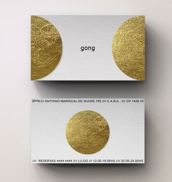 Carbono Atelier - buenos aires // Branding&Graphic Gong-Restaurant
